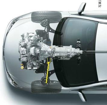 トランスミッション部分はいいかげん)。 スバル4WDからフロントの駆動系を取っ払っただけではない